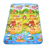 Mtele 71x47 Inch Baby Kid Toddler Play Crawl Mat Carpet Playmat Foam Blanket Rug …