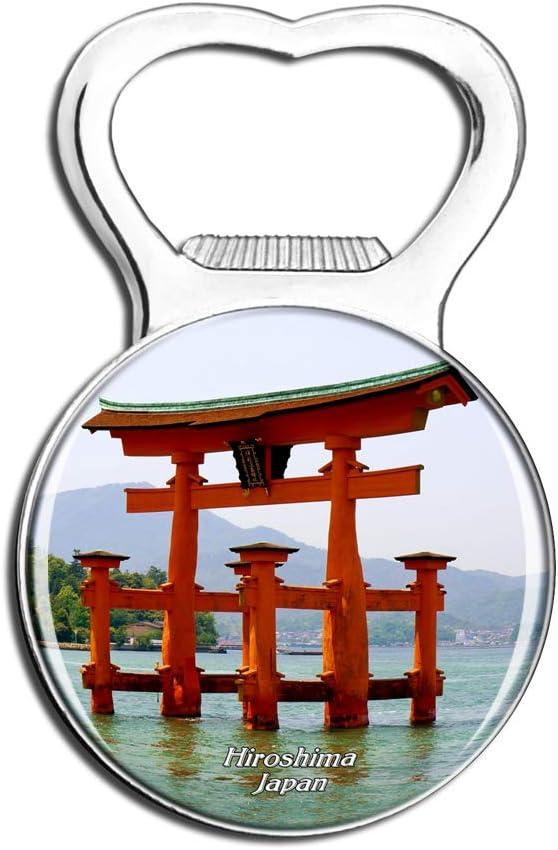 Weekino Japan Itsukushima Shinto Shrine Hiroshima Fridge Magnet Bottle Opener Beer City Travel Souvenir Collection Strong Refrigerator Sticker