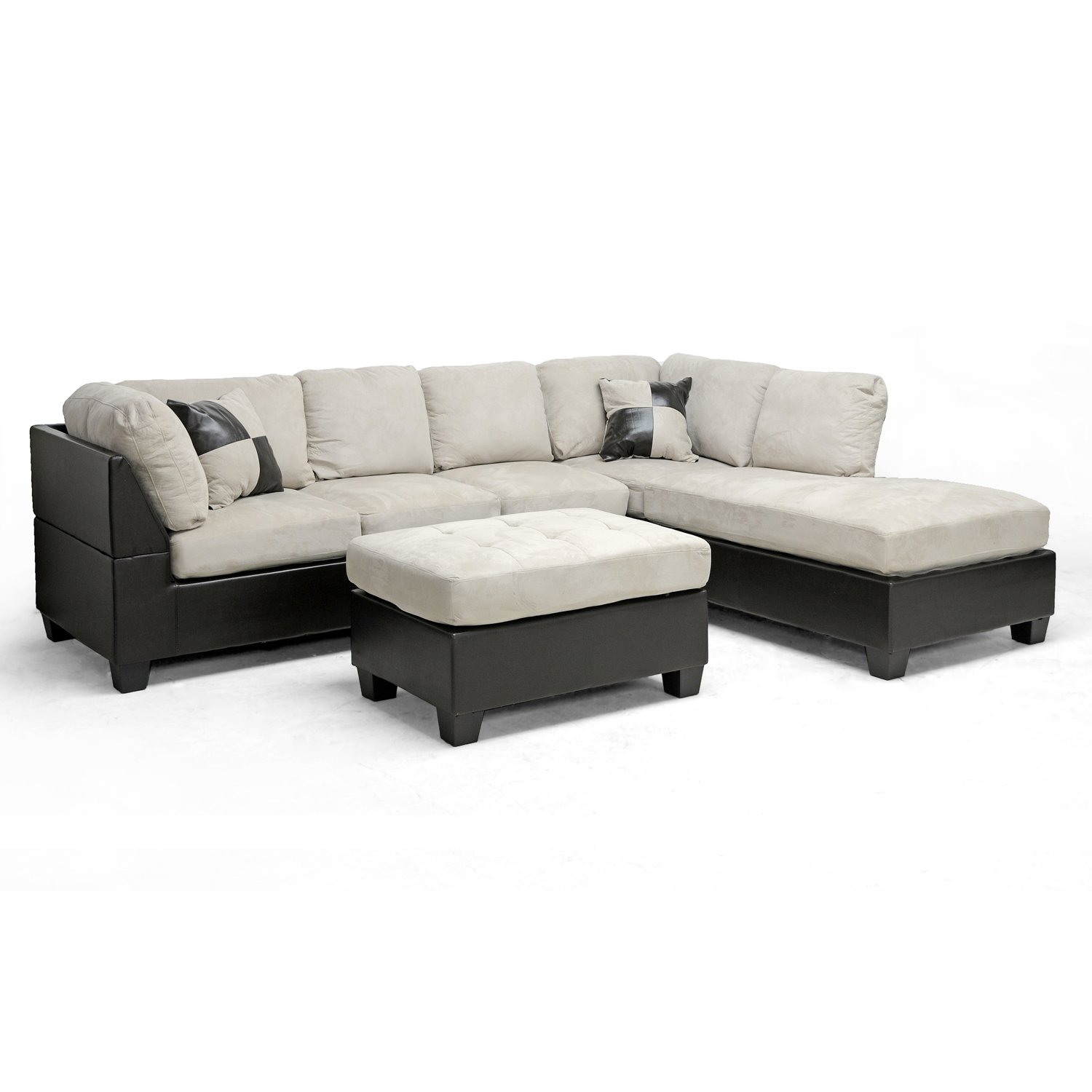 Amazon Baxton Studio Mancini Modern Sectional Sofa and