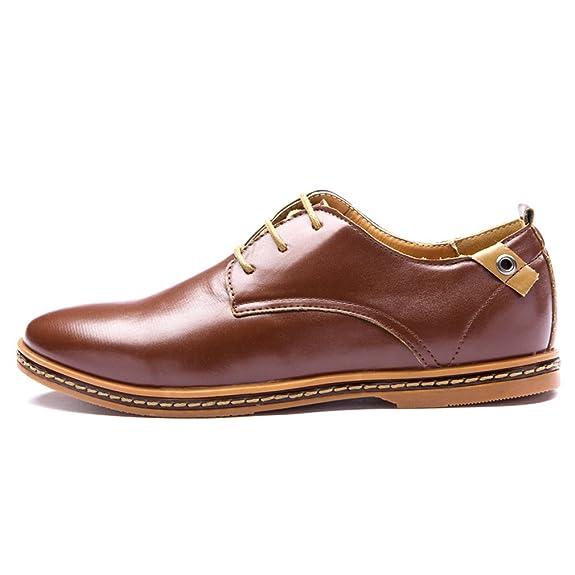 Blivener Casual - Zapatos de cordones de Otra Piel para hombre, color marrón, talla 46 EU