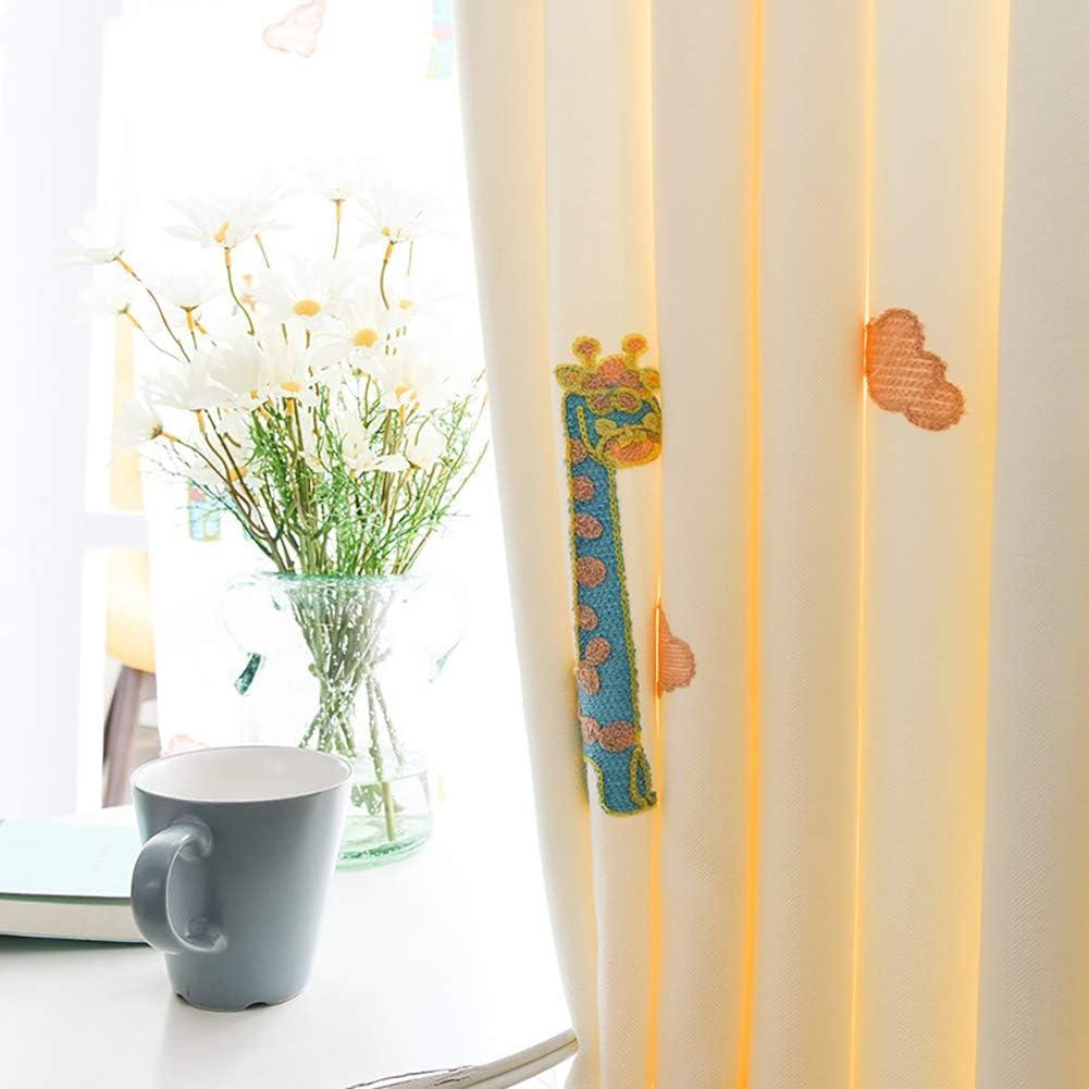 Naturer Kinderzimmer Verdunkelungsgardinen Kr/äuselband Junge M/ädchen Wolken Giraffe Muster 145x140 Kruz Gardinen Thermo Vorhang Babyzimmer Schlafzimmer Dekoschal Gardine Licht Blockieren Winddicht