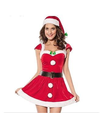 Women Santa S Christmas Costume Cosplay Dance Dress