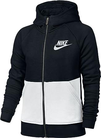 Nike G NSW Mdrn Hoodie FZ GFX Felpa per Bambina, Nero (Black