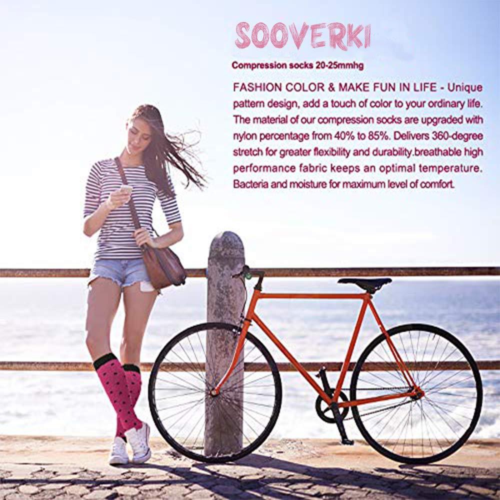Hiking Travel /& Flight Socks-20-25mmHg Compression Socks for Women and Men-Best Medical,for Running,Nursing,Circulation /& Recovery