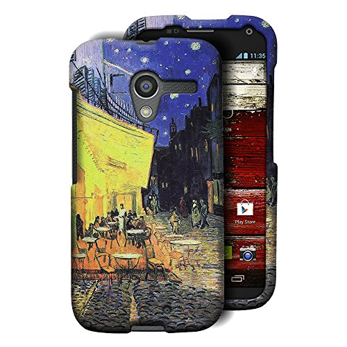 CoverON for Motorola Moto X (1st Generation, XT1058) Hard Design Case [Snap Fit Series] Slim Polycarbonate Phone Cover - (Terrace Cafe) (Series Terrace)