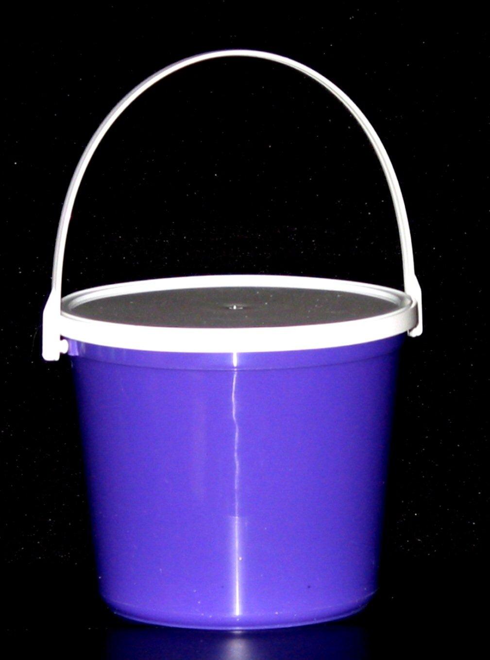 Plastic Buckets & Lids, 80 Ounces, 6 Pack,1 each Red Blue Yellow Orange Purple & Green by Talisman (Image #3)