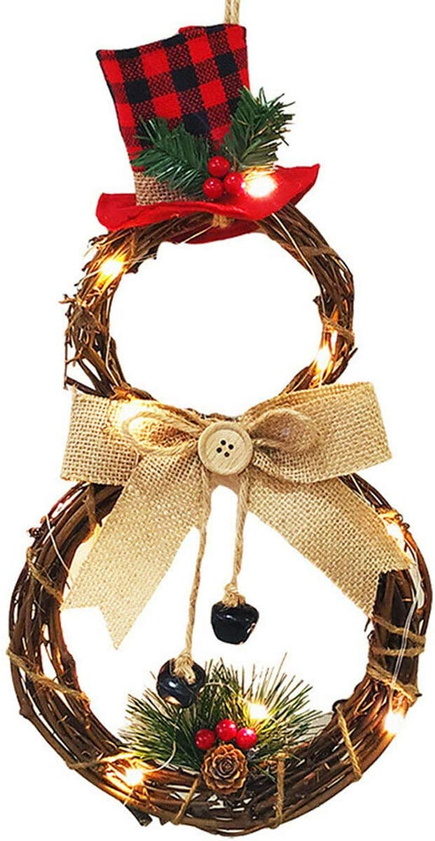 XIAXAIXU Christmas Wreath Hanging Decor Xmas Party Door Wall Garland Ornament Decors Party Decoration (One Size, A)