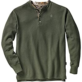Legendary Whitetails Men's Summit Double Collar Big Game Camo Henley Shirt