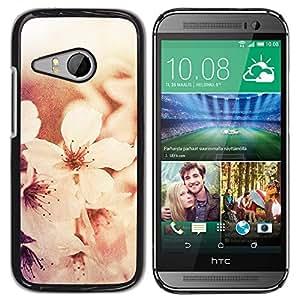 iKiki Tech / Estuche rígido - Blossoms White Sunshine Light - HTC ONE MINI 2 / M8 MINI