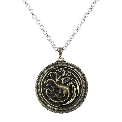 db71b46c6e88 Lureme Juego de Tronos Inspirado Targaryen Colgante Traje Collar-Bronce  Antiguo (nl005378-2