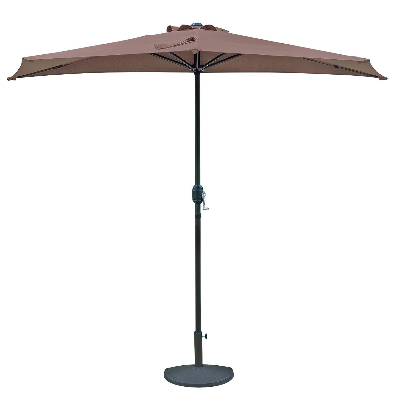 Cilantro Green Island Umbrella NU5409CG Lanai Half Patio Umbrella