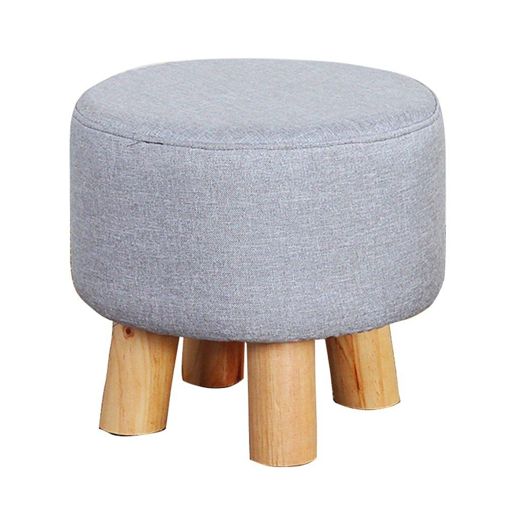 Grey Shoe Bench/Low Stool/Four-Legged Stool Multifunctional Footstool/Fabric Sofa Stool/Stylish Stool/Creative Shoe Bench/Chair/ Bench/Solid Wood stools/Bedside stool/3331.5cm