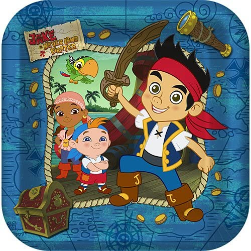 Jake /& the Never Land Pirates Large Paper Plates 8ct