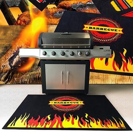 Tapis résistant aux flammes pour barbecue, barbecue Tapis