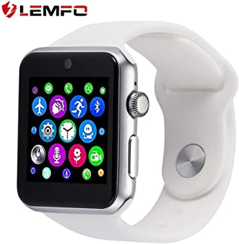 Amazon.com: LEMFO LF07 Smart Watch Support SIM Card Camera ...