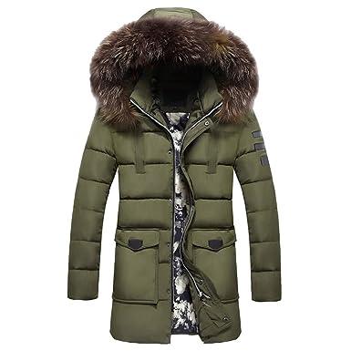 1bcb9977d241 OSYARD Doudoune en Coton Homme Hiver Chaud Cuire à Capuche Automne Manteau  Veste Slim Fit Col