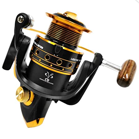 Gapless Spinning Fishing Reel, 12 1 BB 5.2 1 High Speed Ultralight Smooth Powerful Metal Spinning Reels for Freshwater Saltwater Bass Fishing