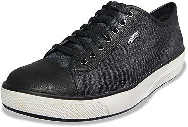 MBT Womens Jambo (LE) Athletic Walking Shoe, Black Stone Washed Denim