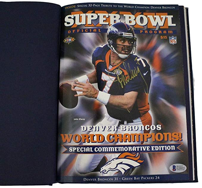 new style e3ae2 25424 John Elway Autographed Super Bowl XXXII Champions ...