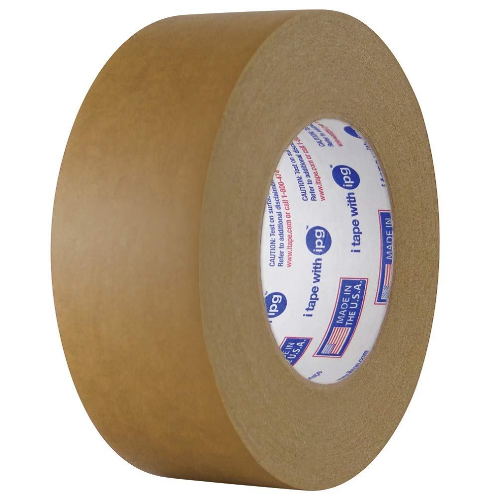 Case of 24 Rolls 0.18mm Thick x 54.8m Length x 48mm Width Brown Intertape Polymer Group 539 Synthetic Rubber Medium Grade Flatback Adhesive Tape