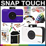 Polaroid Snap Touch Instant Camera Gift Bundle+ ZINK Paper (30 Sheets) + Snap Themed Scrapbook + Pouch + 6 Edged Scissors + 100 Sticker Border Frames + Gel Pens + Hanging Frames + Accessories