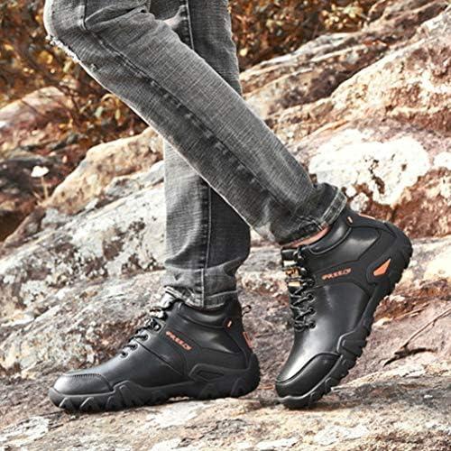 トレッキングシューズ メンズ スノーブーツ 防寒靴 革靴 アウトドア 雪靴 防水 ウィンターブーツ 幅広 裏起毛 綿靴 防滑 厚底ブーツ 耐摩耗 カジュアル安定感 冬 衝撃吸収 登山靴ワークブーツ マーティンブーツ