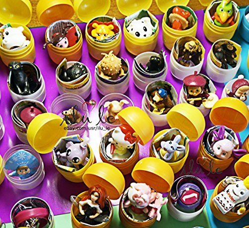 20psc for Girls Only toys from cartoon!No puzzles jewelry,no other obscure toys!From Eggs in Shells Kinder surprise toys in capsules only, chocolate not included. Party Favor easter AND OTHER -