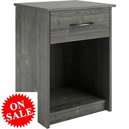 Com Small Wood Nightstand With Storage Bedside Console Table Modern Chic Drawer Simple Bedroom Furniture Kitchen Dining
