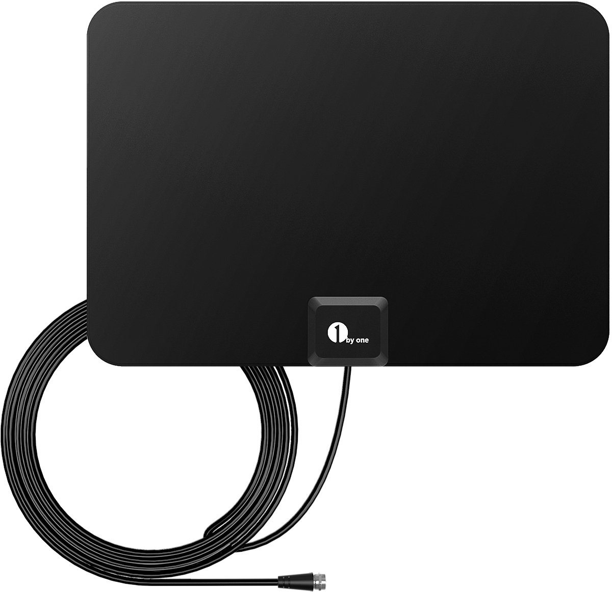 1byone HDTV Antenna - 35 Miles Range with 10 Feet High Performance Coaxial Cable OUS00-0187