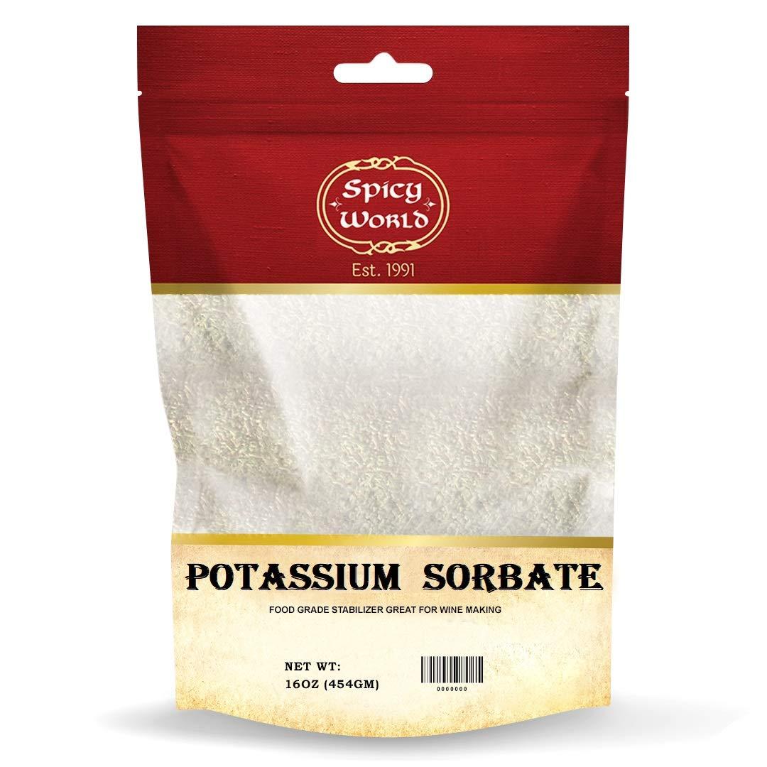 Spicy World Potassium Sorbate 1 Pound - Food Grade - Great Wine Stabilizer