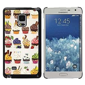 All Phone Most Case / Hard PC Metal piece Shell Slim Cover Protective Case Carcasa Funda Caso de protección para Samsung Galaxy Mega 5.8 9150 9152 cupcake bakery sweets dessert cherry