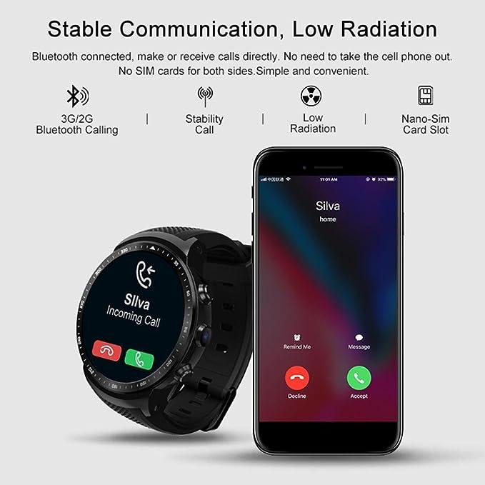 Amazon.com: 3G GPS Smart Watch for iOS & Android, Zeblaze ...