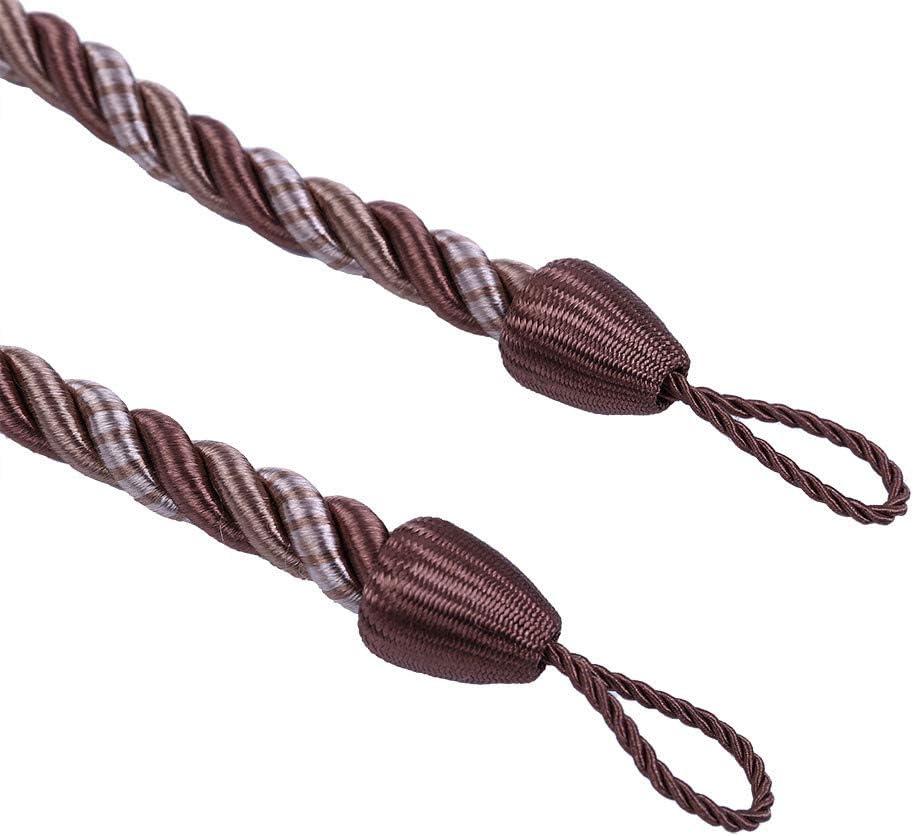 27 Zoll Polyester Kaffee Hukz Modern Pastoralen Vorhang Quaste Krawattenseil,Seile Tie Backs f/ür Fenstervorhangschnalle Tiebacks,Material: Baumwolle