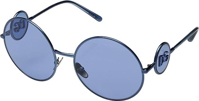 1b10a10aea08 Amazon.com: Dolce & Gabbana Women's DG2205 Blue/Blue One Size: Clothing