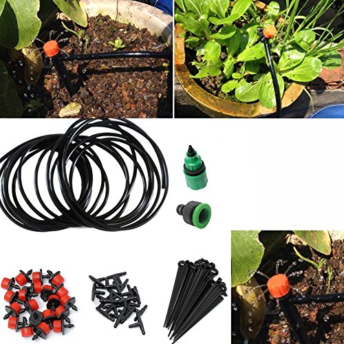 TamPa Micro Watering Drip Irrigation Kit Irrigation Spray set With Distribution Tubing Set Automatic Plant Watering Device (10M)