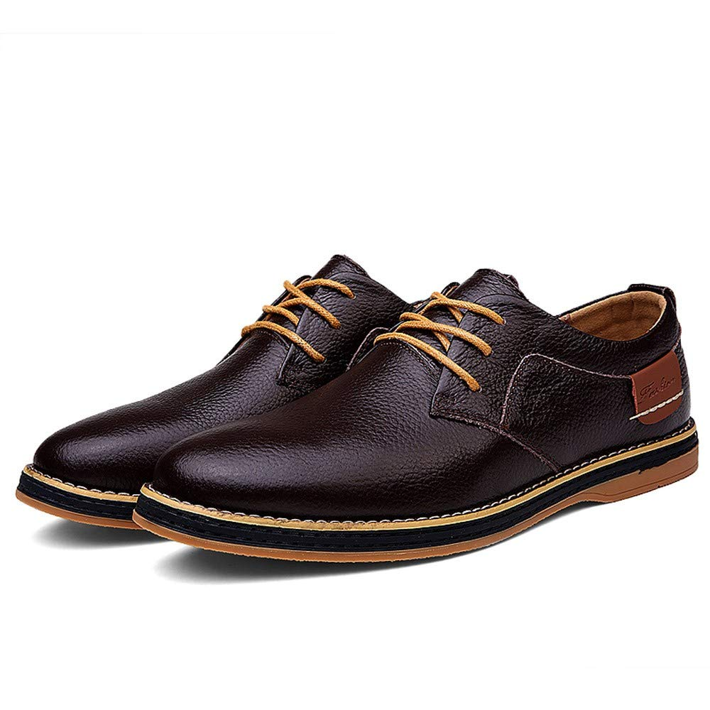 KESEELY Mens Lace Up Office Shoes Casual Leather Sneakers Shoes Formal Business Pointed Head Shoes
