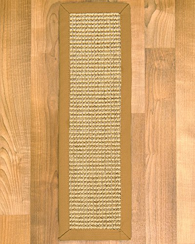 Natural Area Rugs Monterrey Natural Sisal Fiber Stair Treads (Set of 13), 9'' by 29'', Khaki Binding by NaturalAreaRugs