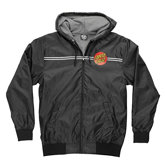 Santa Cruz Mens Dot Hooded Windbreaker Jacket at Amazon Men's ...