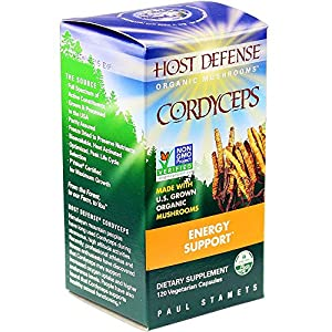 Host Defense - Cordyceps Capsules, Mushroom for Energy Support, 120 Count (FFP)
