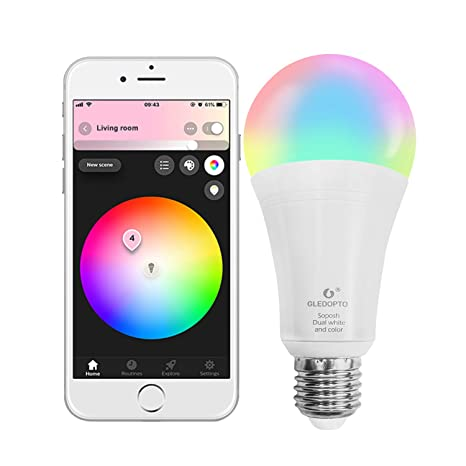 Wifi Smart Led Light Bulb Lamp E26 12w Rgbcw Homekit Lighting Bulb Dimmable Multicolor Compatible With Alexa And Google Home To Enjoy High Reputation In The International Market Led Bulbs & Tubes Back To Search Resultslights & Lighting