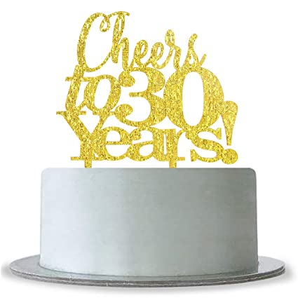 Amazon WeBenison Cheers To 30 Years Cake Topper