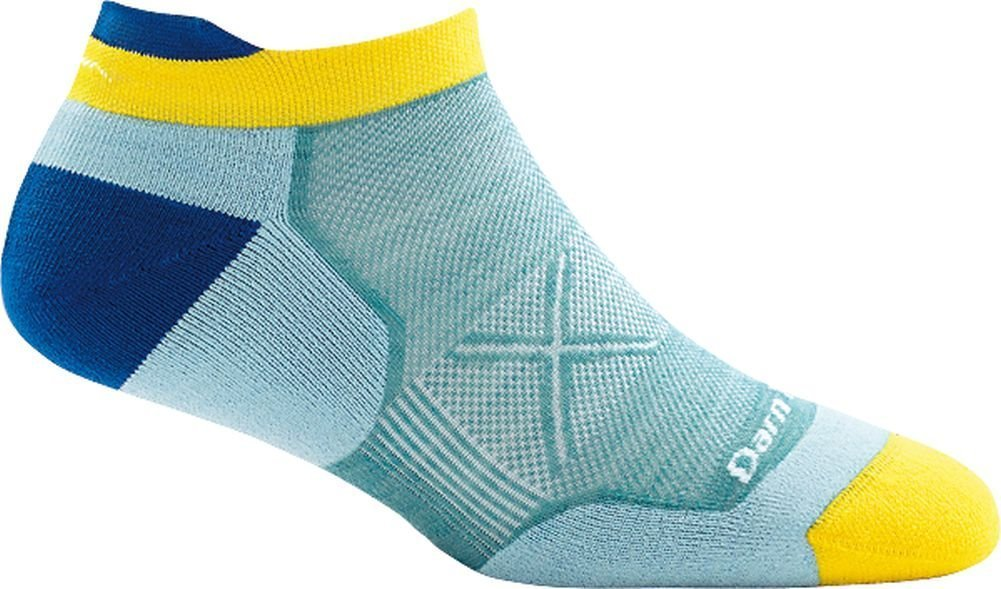 Darn Tough Vertex No Show Tab Ultra-Light Sock - Women's Light Blue Medium