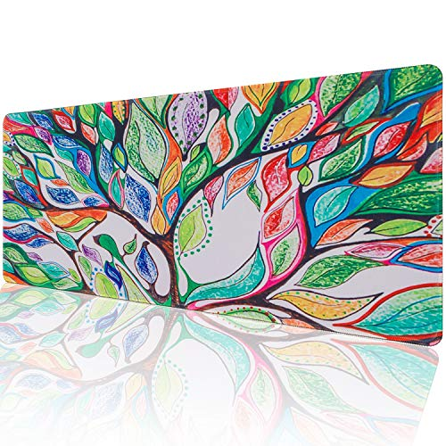 - Marphe Customized The Tree of Life Large Gaming Mouse Pad Stitched Edges Extended Mat Desk Pad Mousepad Long Non-Slip Rubber Mice Pads