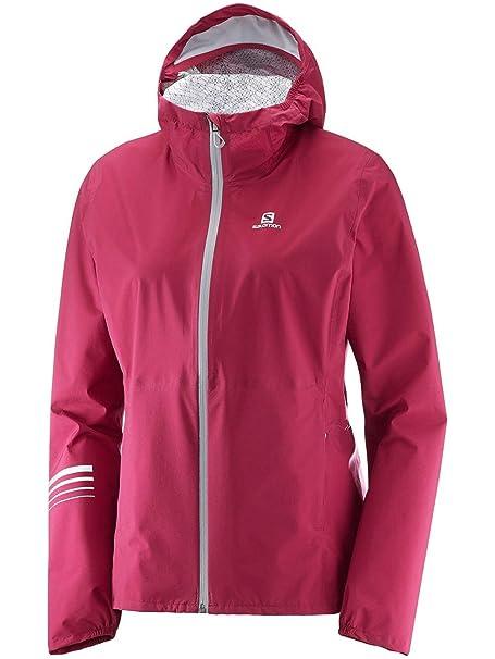 SALOMON Women's Lightning Wp Jacket, Beet Red, 2X Large