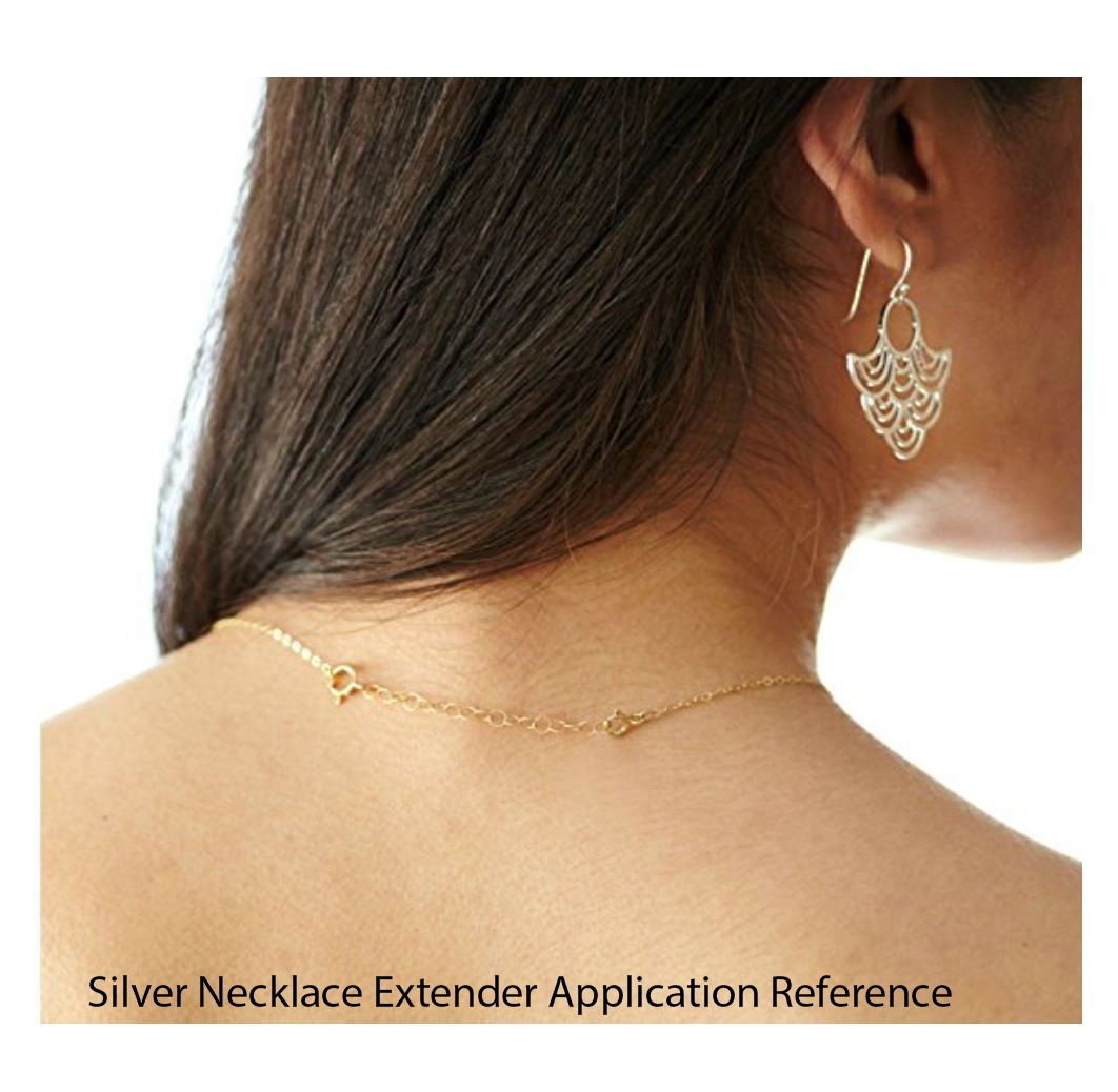 2pcs Sterling Silver Chain Extender Strong and Long Lasting 1 inch Chain Extension for Necklace Anklet Bracelet SS287-1