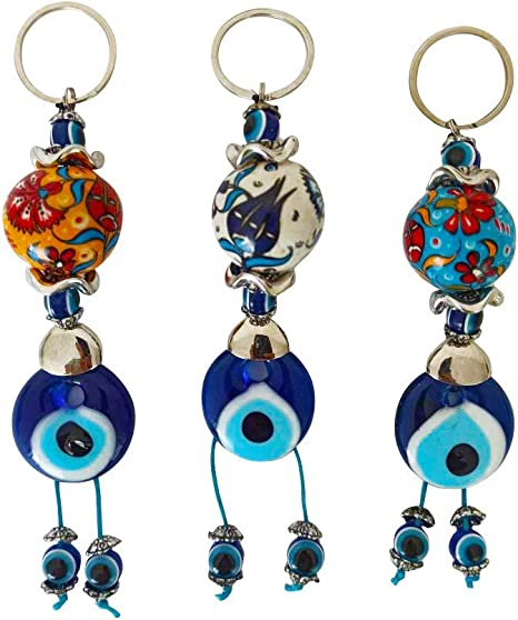 Sterling Silver 18 inch Chain Blue Evil Eye Necklace Good Luck Gift Gift for Her Protective Turkish Nazar Amulet Talisman