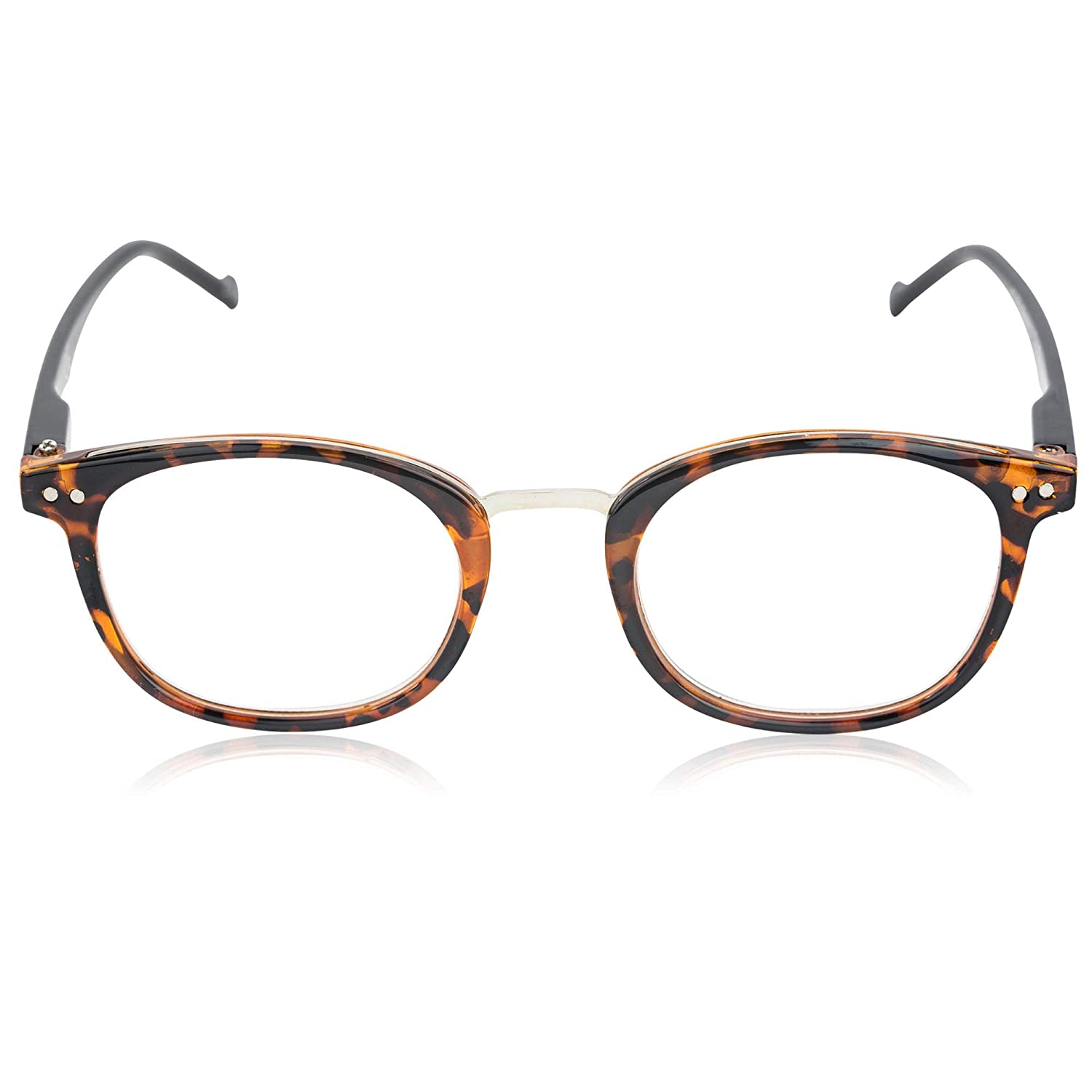 In Style Eyes Modern Oval Clear Frame Readers