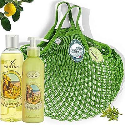 Französisches Beauty Set Pflege Set PROVENCE mit Bio Verbena .Air D'Antan® 1 Duschgel 250ml+1 Bodylotion 200ml in einer…