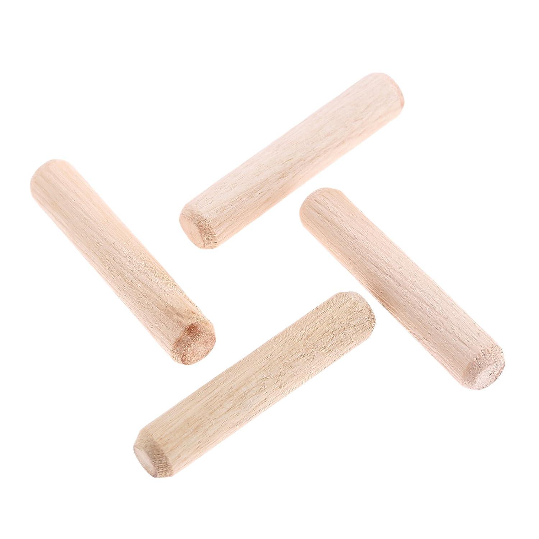 //0.24x0.79 200pcs Woodworking Hardwood Round Dowel Pins Wooden Craft Rods Furniture Fitting Tools 6x20mm DxL