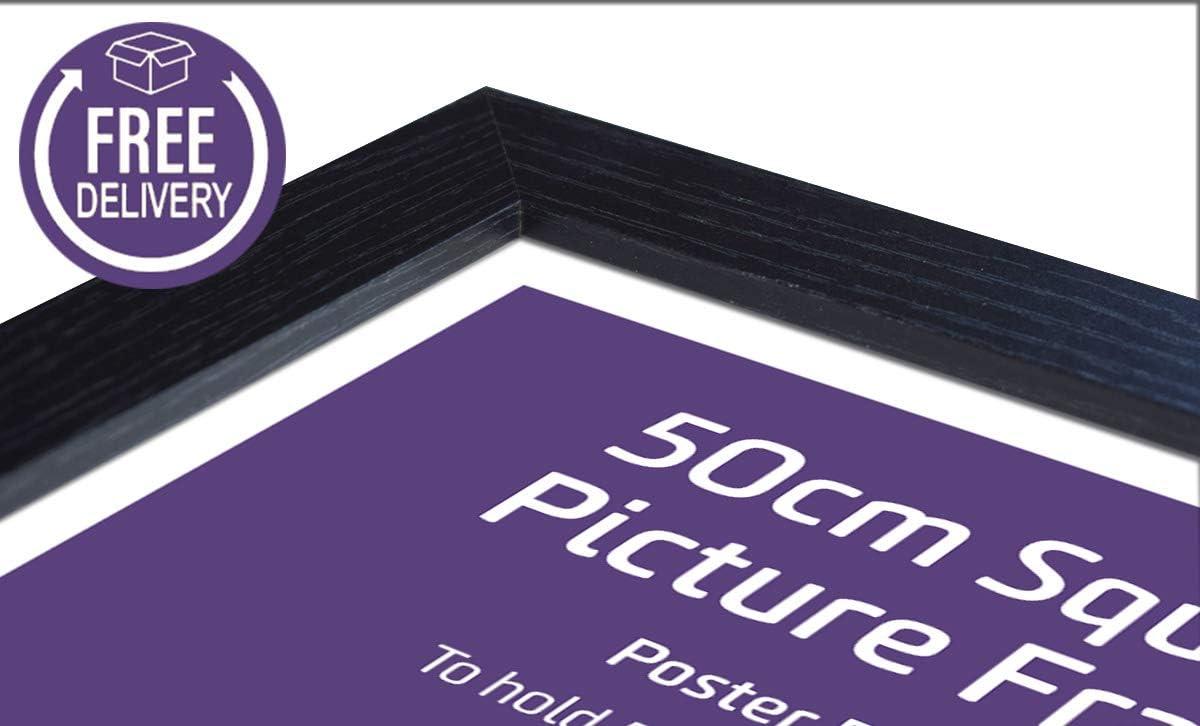 Picture Frames UK Cadre Photo Carr/é Noir 50 x 50 cm
